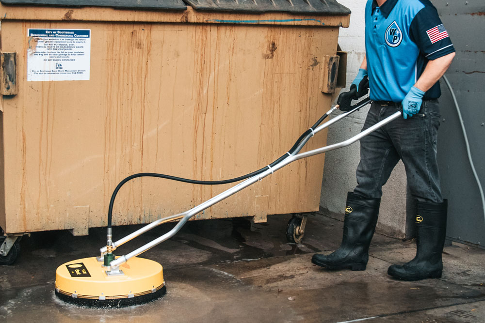 Dumpster Pad Cleaning